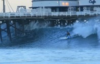 Laird Hamilton SUP surfing @Malibu