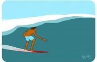 サーフィンアニメーション