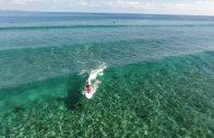 超海がきれいなフィジーでSUP