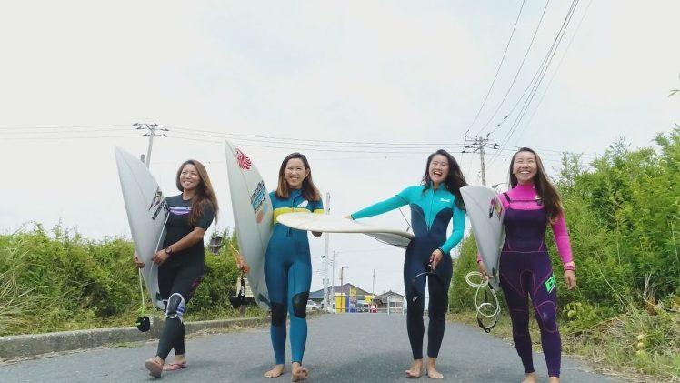 空撮サーフィン 女子プロ 東浪見ポイント フリーセッション