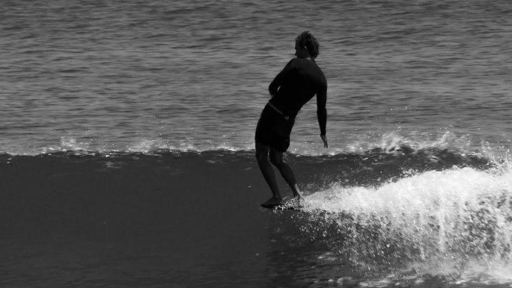Classic longboarding style at Malibu, California