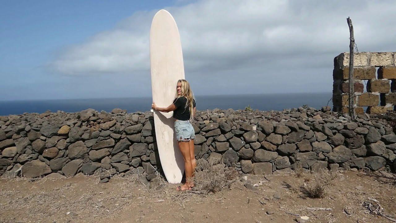 スペイン領カナリア諸島 テネリフェ島でロングボード Canary Islands Longboard Surfing 2020
